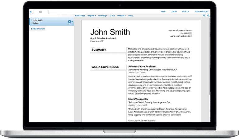 Using an online resume generator